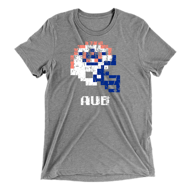 auburn tigers tecmo bowl t-shirt - heather grey