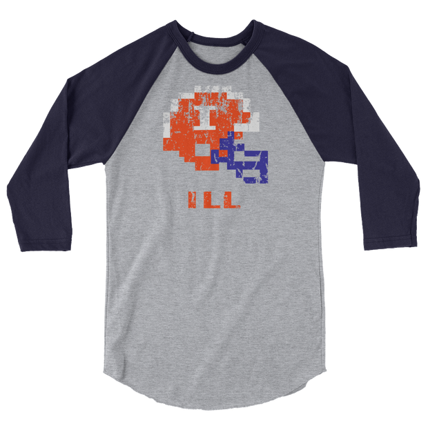 University of Illinois | Tecmo Bowl Raglan Shirt