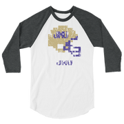 James Madison University | Tecmo Bowl Raglan Shirt