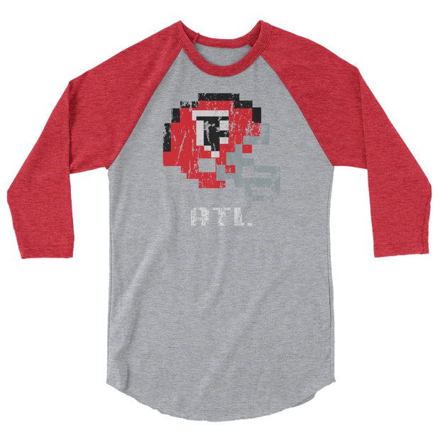 Atl Falcons | Tecmo Bowl Raglan Shirt