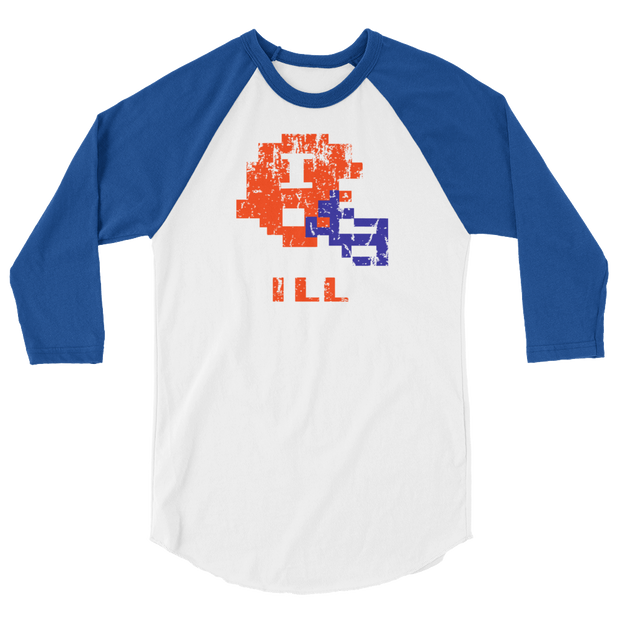 Illinois | Tecmo Bowl Raglan Shirt