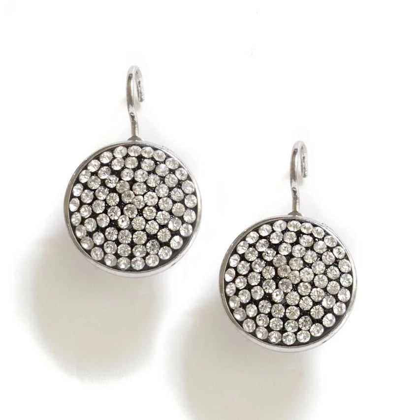 WHITE TONED DISCS WITH PAVE STONES