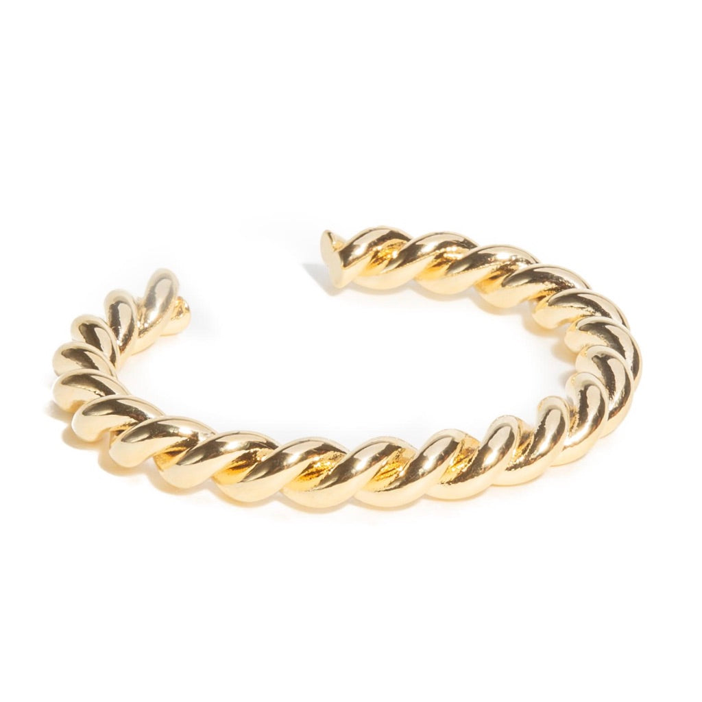 POLISHED TWIST CUFF