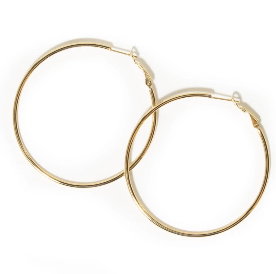 THIN OVERSIZED HOOPS*