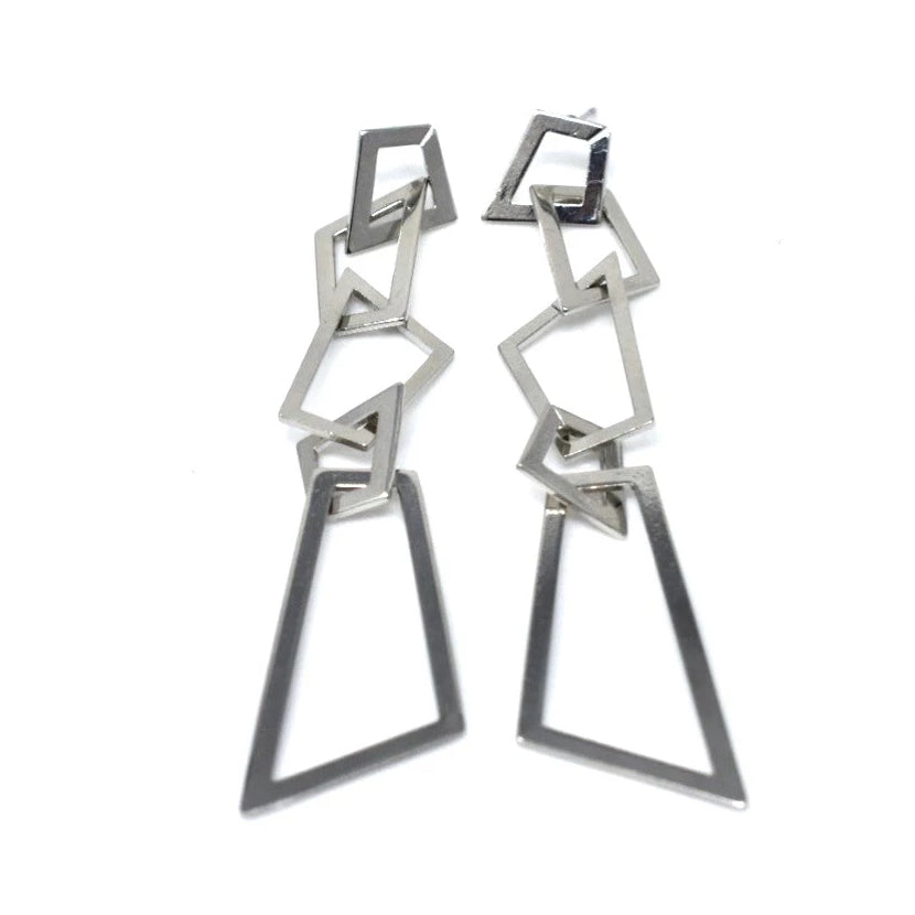 POLISHED GEOMETRIC LINK DANGLES