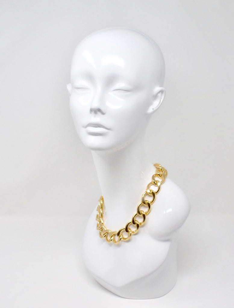 THICK CHAIN LINK POLISHED NECKLACE