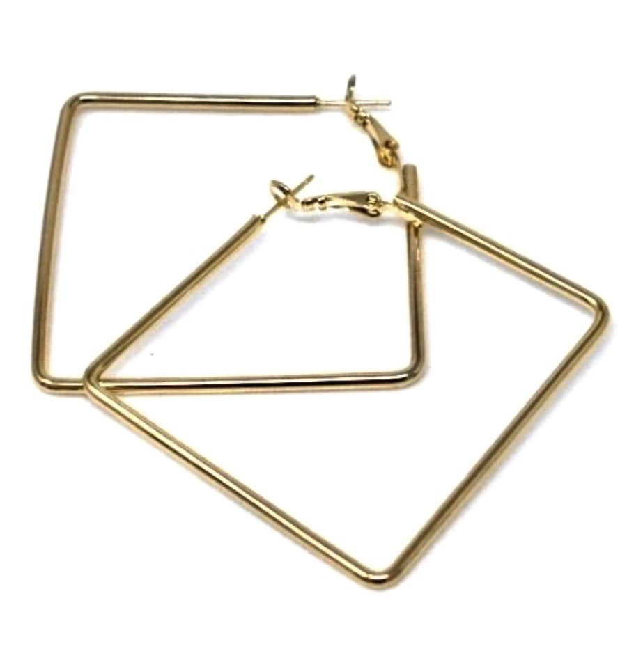 THIN SQUARE HOOPS