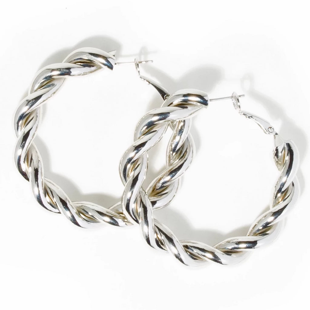 POLISHED TWISTED HOOPS