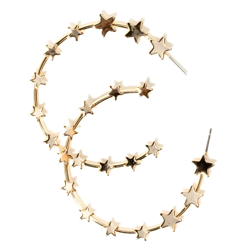 GRADUATED STAR HOOPS