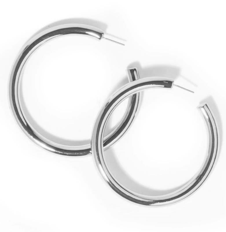 LARGE POLISHED TUBE HOOPS