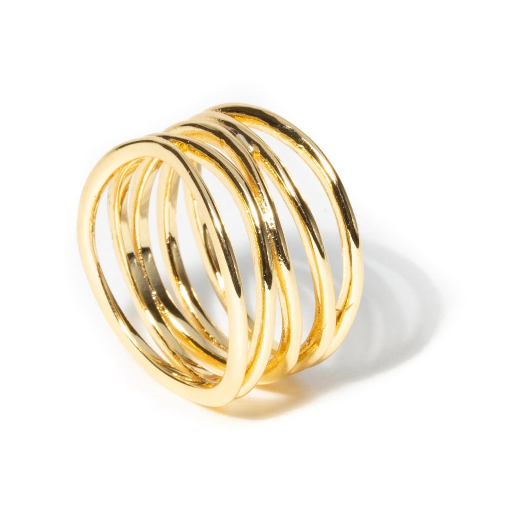 POLISHED LAYERED STACK RING