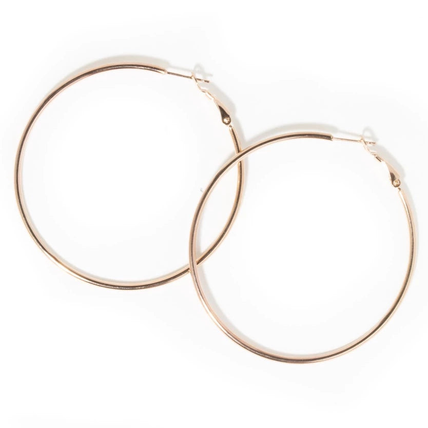 THIN OVERSIZED HOOPS