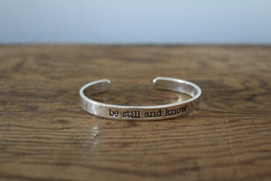 Be Still Cuff Bracelet - Faith45 - Bracelet