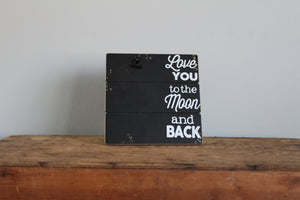 Faith45 - picture frame - love you to the moon and back