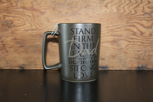 Faith45 - coffee mug - mug - dad - stand firm