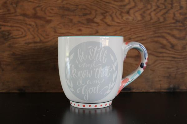 Faith45 - coffee mug - mug - be still and know