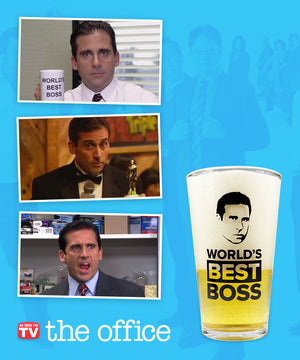 """World's Best Boss"" Beer Glass"