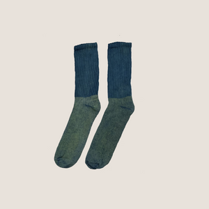 Everyday Sock ~ Happy Tree (Green/Indigo)