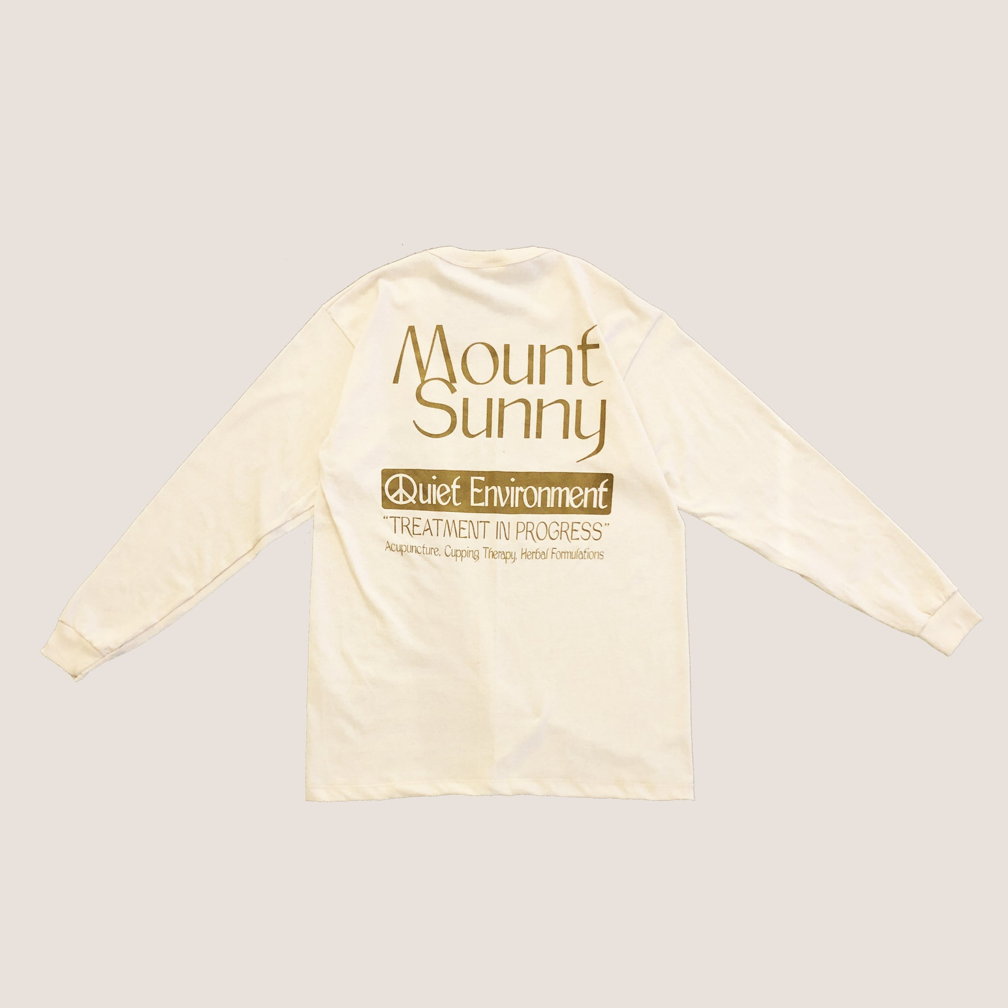 Peace & Quiet x Mount Sunny ~ Quiet Long-sleeve Tee