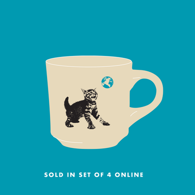 Cat World Coffee Mug Set