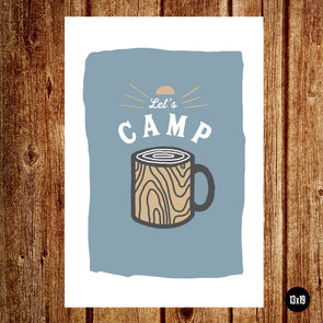 Let's Camp / Poster