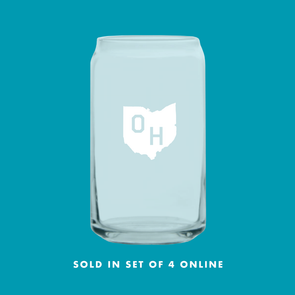 Ohio Beer Can Glass