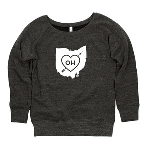 Ohio Heart Womens Sweatshirt