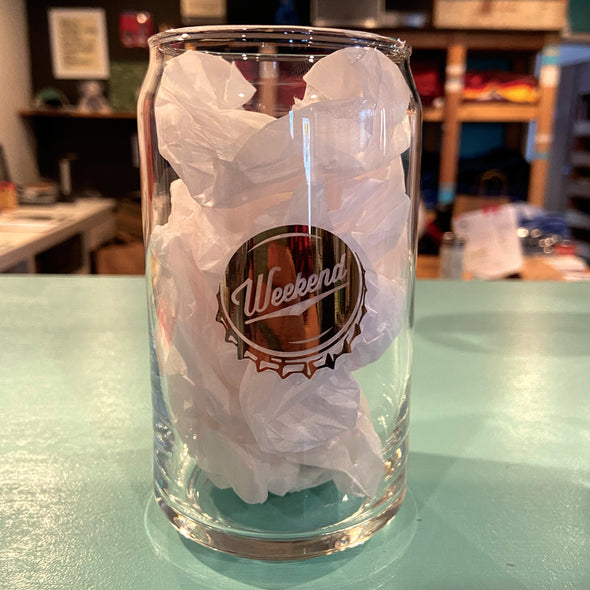Weekend Beer Can Glass