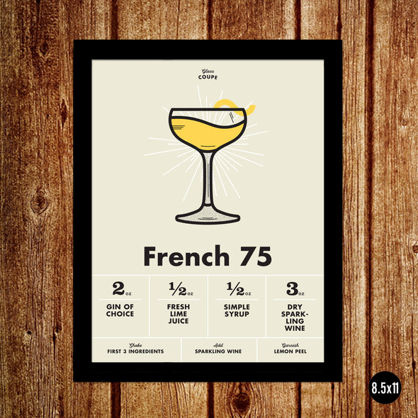 French 75: The Cocktail Poster