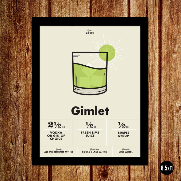 Gimlet: The Cocktail Poster