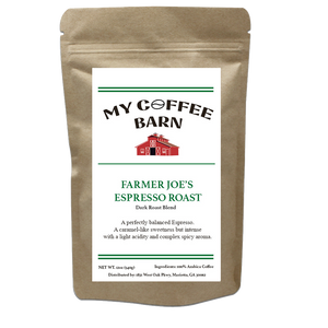 My Coffee Barn - Farmer Joe's Espresso Roast - Dark Roast - pupville
