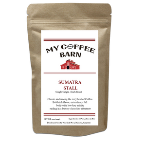 My Coffee Barn - Sumatra Stall - Single Origin Dark Roast - pupville
