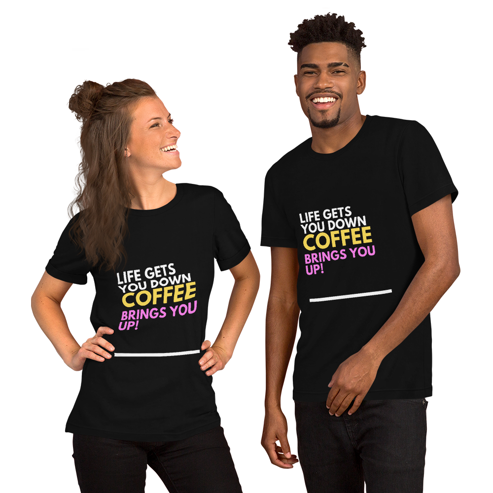 Need a pick me up? Coffee of course! 100% Cotton Short-Sleeve Unisex T-Shirt - pupville