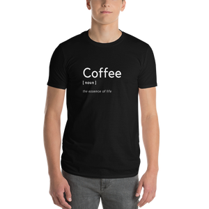 Coffee finally defined! 100% Cotton Unisex Short-Sleeve T-Shirt - pupville