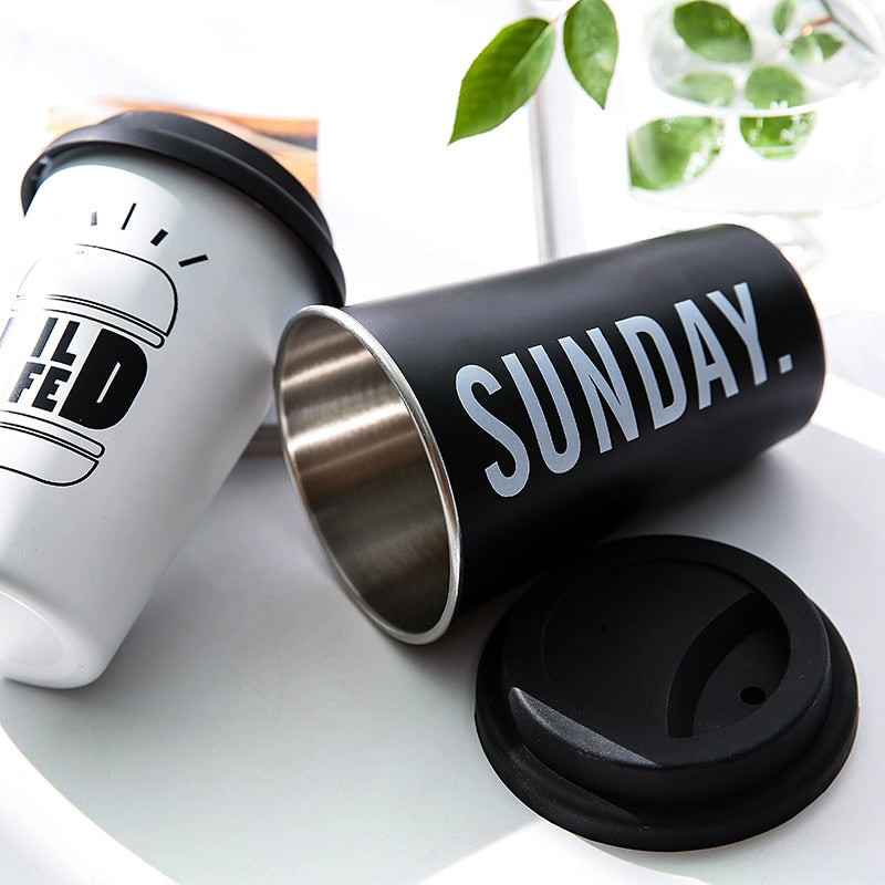Thickened Stainless Steel Travel Coffee Mugs - 3 to choose from!! - pupville