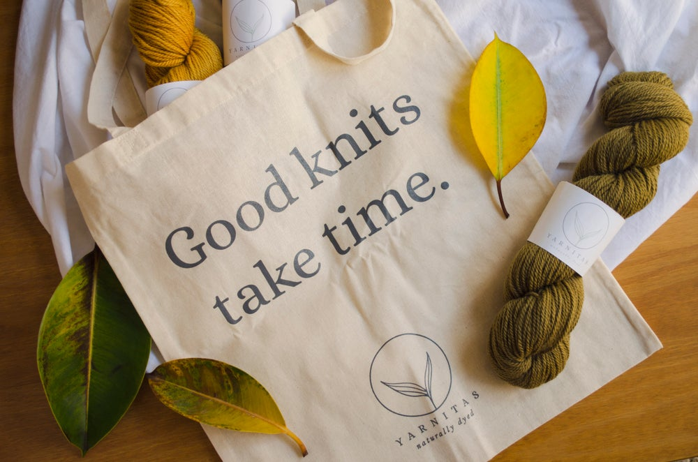 Good Knits Take Time / Bolsa tote bag