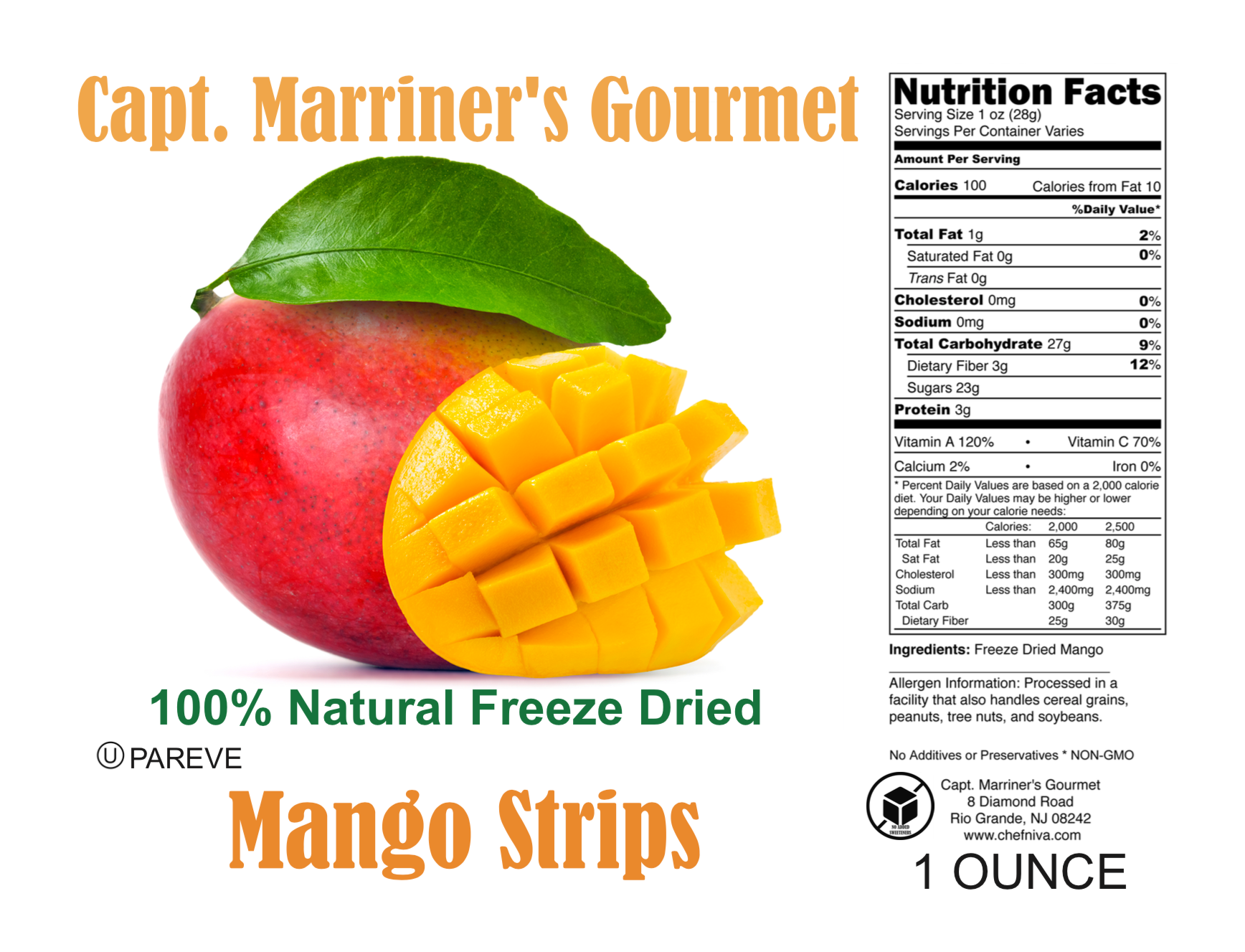 FREEZE DRIED MANGO STRIPS