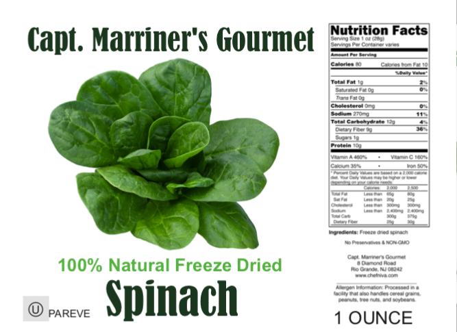 FREEZE DRIED SPINACH