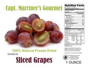 FREEZE DRIED SLICED GRAPES