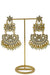 """Mia"" Large Gold Kundan Earrings"