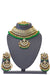 """Nadia"" Emerald Green Kundan Necklace Set"