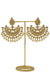 """Fariah"" Large Gold Kundan Earrings and Tikka Set"