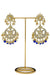"""Sonam"" Royal Blue Kundan Earrings"