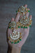 """Fatemah"" Emerald Green Kundan Earrings"