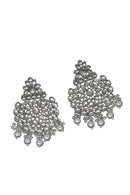 """Tania"" Silver Kundan Earrings"