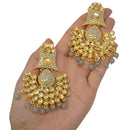 """Shahreen"" Gold Jhumka Earrings and Tikka Set"