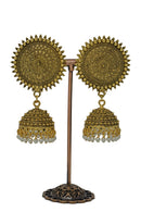 """Payel"" Gold Jhumka Earrings"
