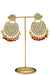 """Preeti"" Maroon Kundan Earrings"