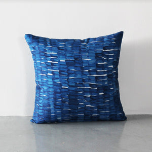 Ponder Cube Cushion Blue