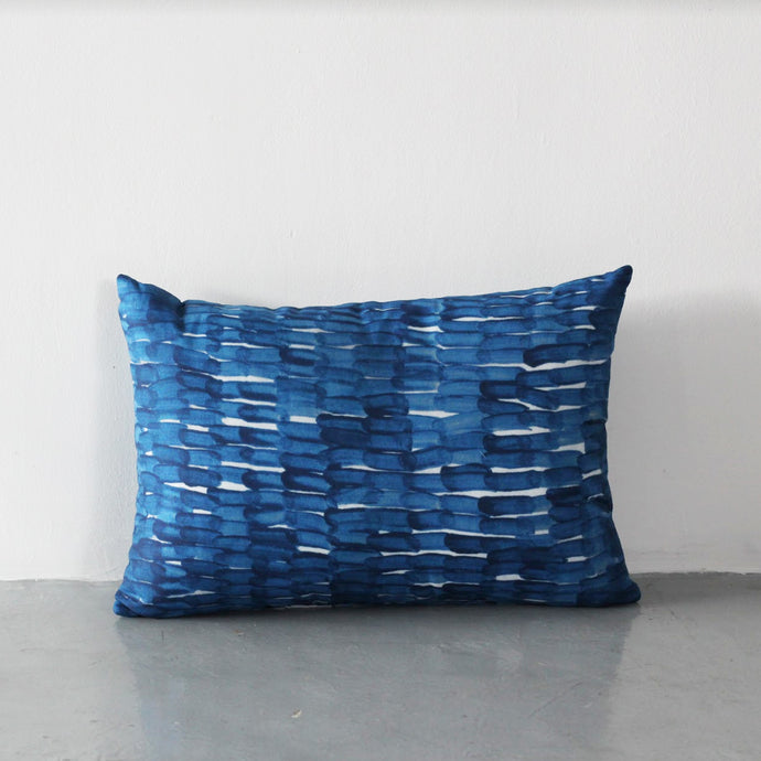 Ponder Block Cushion (Blue)